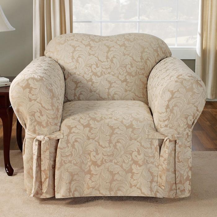 Накидка на старое кресло своими руками 38
